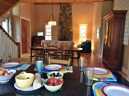 Edgartown Martha's Vineyard vacation rental - Granite island is open to a large living/dining area.