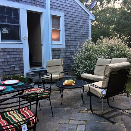 Edgartown Martha's Vineyard vacation rental - Nice bluestone terrace with privacy and grilling area.