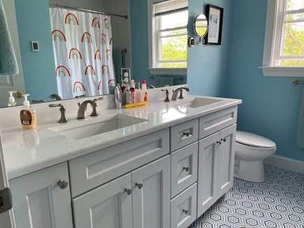 Edgartown Martha's Vineyard vacation rental - Spacious second-floor bathroom, with dual sinks and tub.