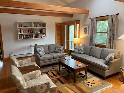 Chilmark Martha's Vineyard vacation rental - Comfortable sun-filled Living Room
