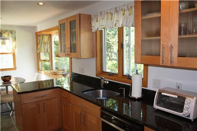 Chilmark Martha's Vineyard vacation rental - Newly renovated Kitchen with Dining area
