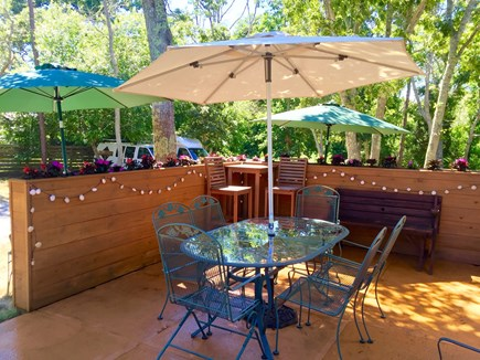 Oak Bluffs Martha's Vineyard vacation rental - Enjoy your meal outside at the patio