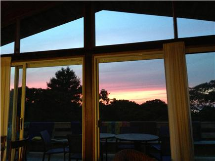 Aquinnah Martha's Vineyard vacation rental - Sunsets from the living room or deck...