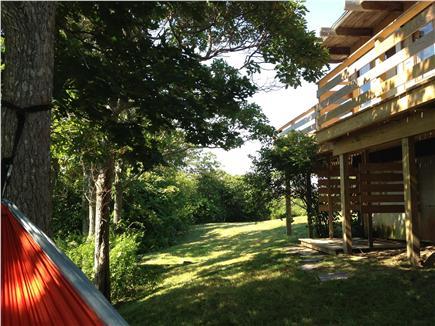 Aquinnah Martha's Vineyard vacation rental - Shaded hammock in the side yard