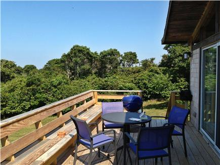Aquinnah Martha's Vineyard vacation rental - Front deck, great for outdoor eating