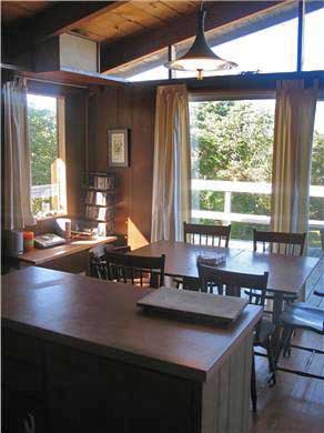 Aquinnah Martha's Vineyard vacation rental - Kitchen with great light and view