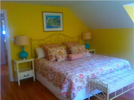 Edgartown Village Martha's Vineyard vacation rental - Master bedroom-King bed with private bath, spacious closets, TV