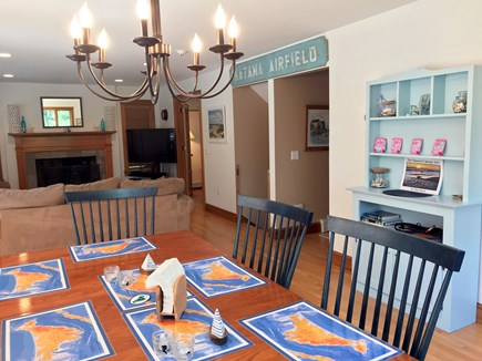 Oak Bluffs Martha's Vineyard vacation rental - Eating area opens to living room. Table seats 8-10.