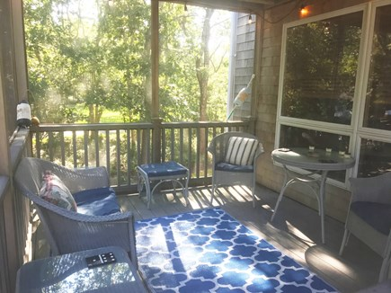 Oak Bluffs Martha's Vineyard vacation rental - Relaxing screened in porch right off of deck and dining room