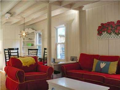 Oak Bluffs Martha's Vineyard vacation rental - Freshly Furnished, Cheery Living Area