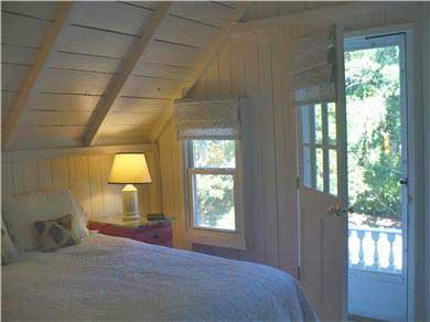 Oak Bluffs Martha's Vineyard vacation rental - Master Bedroom with Queen Bed and Balcony