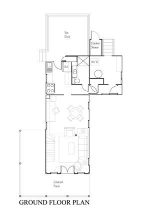 Oak Bluffs Martha's Vineyard vacation rental - Ground Floor Plan
