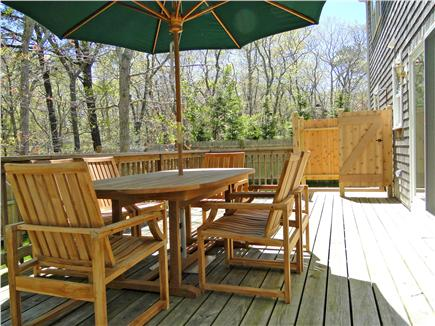 Edgartown Martha's Vineyard vacation rental - Beautiful private deck with new outdoor shower