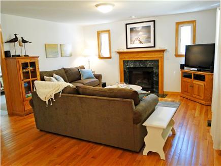 Edgartown Martha's Vineyard vacation rental - Beautifully decorated, comfortable living room w/ fireplace & TV