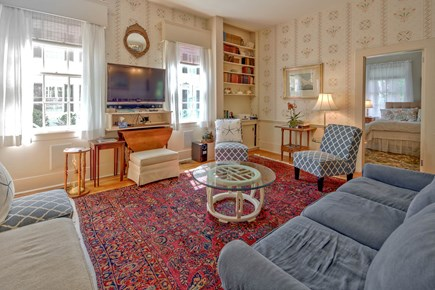 Edgartown Martha's Vineyard vacation rental - Back living room area with bedroom 11 through the door