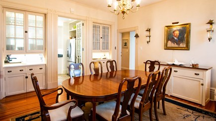 Edgartown Martha's Vineyard vacation rental - Formal Dining Room with front kitchen in background