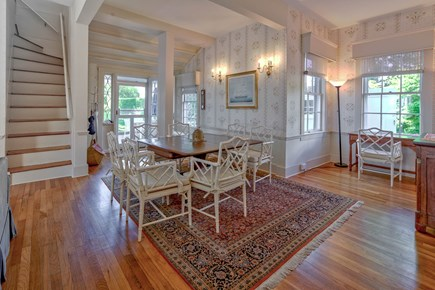 Edgartown Martha's Vineyard vacation rental - Back dining area with patio entrance