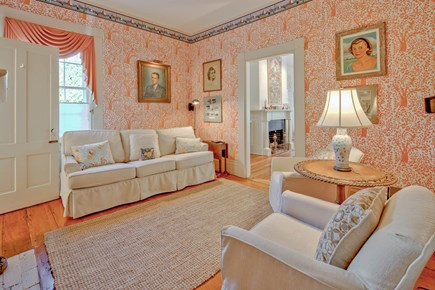 Edgartown Martha's Vineyard vacation rental - The Game Room room off the living room has a pullout sleeper
