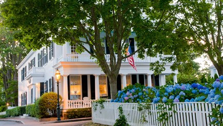 Edgartown Martha's Vineyard vacation rental - Evening at Captain Morse House as viewed from foot of Morse St