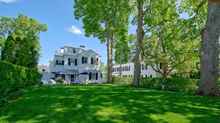 Edgartown Martha's Vineyard vacation rental - Backyard looking towards house and North Water St