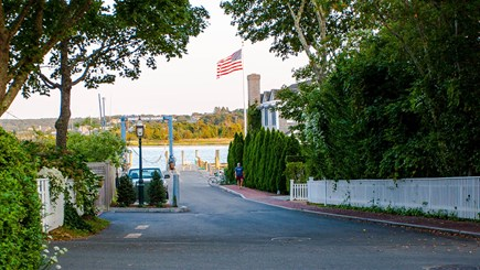 Edgartown Martha's Vineyard vacation rental - View down Morse St. to the Harborfront and Chappy