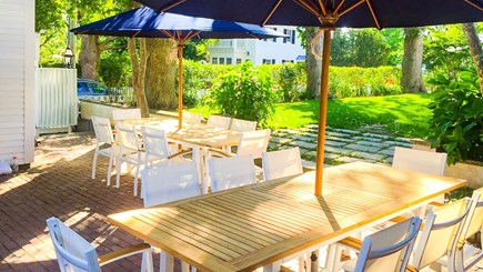 Edgartown Martha's Vineyard vacation rental - Patio and back yard with grill and seating for 20