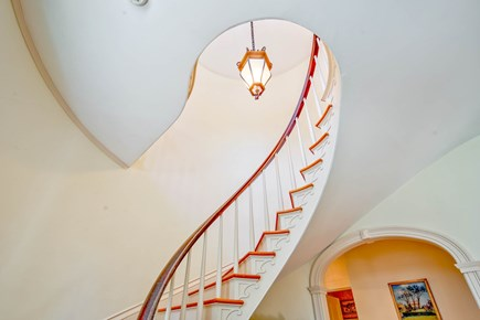 Edgartown Martha's Vineyard vacation rental - Spiral Staircase in front hall