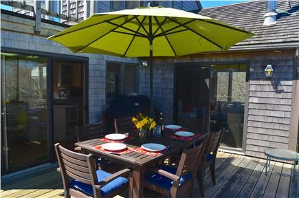 Aquinnah Martha's Vineyard vacation rental - Deck off of kitchen