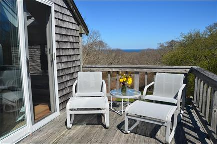 Aquinnah Martha's Vineyard vacation rental - Deck off of top floor bedroom