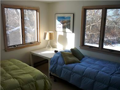 Aquinnah Martha's Vineyard vacation rental - Ground Floor Bedroom: One twin bed, one full/double bed