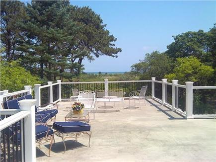 Edgartown Martha's Vineyard vacation rental - Step out  from upstairs BRs to expansive deck facing the Sound