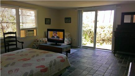 Edgartown Martha's Vineyard vacation rental - Large 1st floor MBR with view thru slider to Nantucket Sound