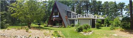 Edgartown Martha's Vineyard vacation rental - Front view & steps leading to upstairs deck & water views