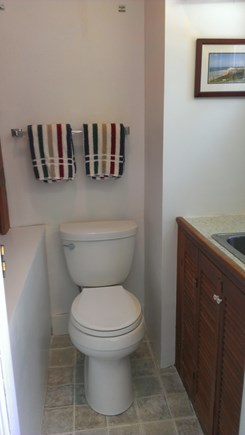 Edgartown Martha's Vineyard vacation rental - Upstairs 1/2 bathroom in the dormer (Note: towels not included)