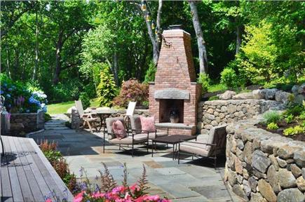 West Tisbury Martha's Vineyard vacation rental - Spacious back yard patio and fireplace
