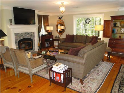 West Tisbury Martha's Vineyard vacation rental - Living room, enjoy French doors to patio