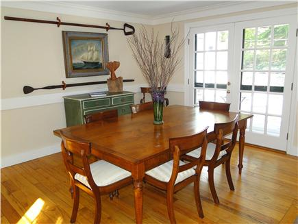 West Tisbury Martha's Vineyard vacation rental - Dine in by fireplace or stroll out to large deck & dining area