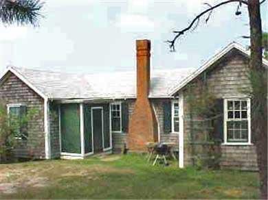 Chappaquiddick Martha's Vineyard vacation rental - Back view