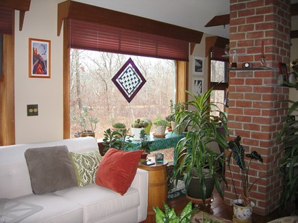 West Tisbury Martha's Vineyard vacation rental - The upstairs living room is bright and colorful!