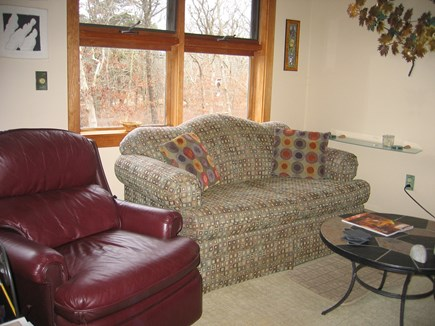 West Tisbury Martha's Vineyard vacation rental - Partial view of family room with flat screen TV.