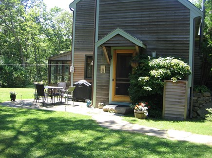 West Tisbury Martha's Vineyard vacation rental - Patio with grille, and entryway.