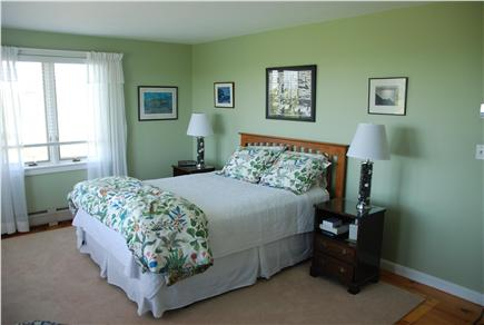 Chilmark Martha's Vineyard vacation rental - Master bedroom with water view.