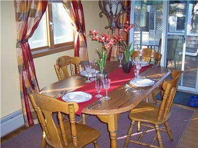 Oak Bluffs Martha's Vineyard vacation rental - Dining room with slider to deck.