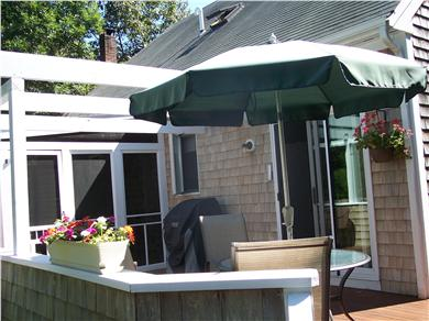 Oak Bluffs Martha's Vineyard vacation rental - Wrap-around deck with screened in porch and gas grill.