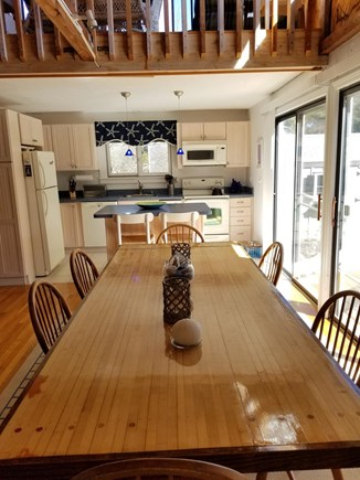 Katama - Edgartown, Edgartown Martha's Vineyard vacation rental - Large table seats eight comfortably