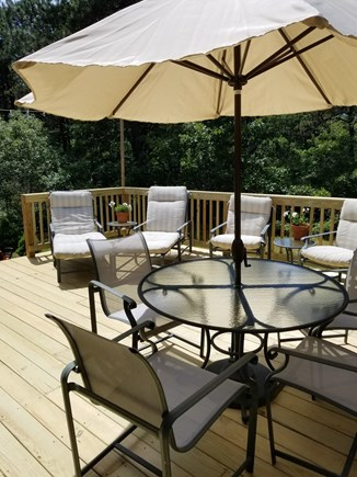 Katama - Edgartown, Edgartown Martha's Vineyard vacation rental - Back deck with grill and plenty of sun!