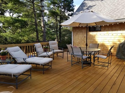 Katama - Edgartown, Edgartown Martha's Vineyard vacation rental - Perfect deck for reading, chatting, grilling out!