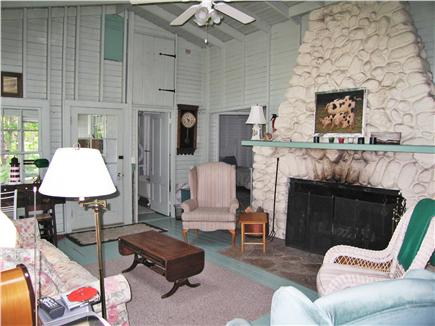 Vineyard Haven Martha's Vineyard vacation rental - Living Room with Fireplace