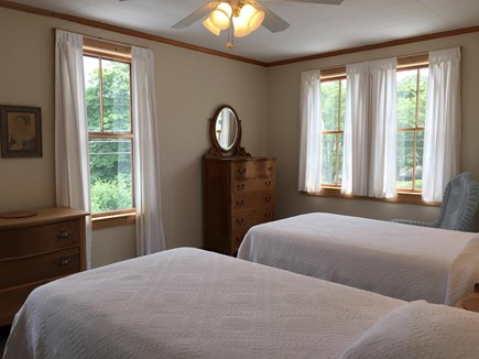 Vineyard Haven Martha's Vineyard vacation rental - Norton (Bed 6): Twin beds upstairs facing water, with sink