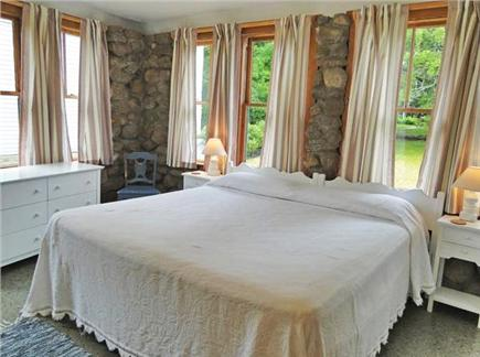 Vineyard Haven Martha's Vineyard vacation rental - Rusbosin (Bed 3): King bed on ground floor, with sink
